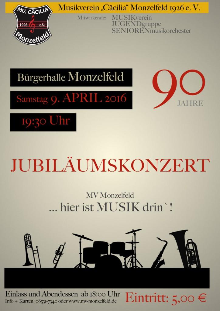 Jubiläumskonzert MV Monzelfeld